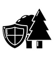 environment protection icon simple black style vector image