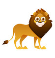 lion cute cartoon character vector image