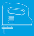 Pneumatic gun icon outline vector image