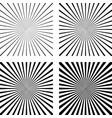 set template light rays background comic pop art vector image
