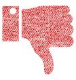 thumb down fabric textured icon vector image