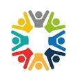 teamwork businessmen silhouette icon vector image