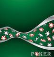 Poker background vector image vector image
