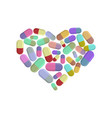 heart pills i love dope i like pill vector image