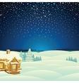 Winter Landscape Cartoon vector image vector image