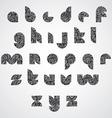 Modern shape black letters vector image vector image