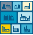 Seamless background with industrial buildings vector image