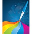 artistic rainbow background - vector image vector image