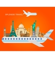 High quality detailed World landmarks vector image