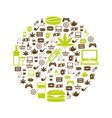 addiction icons in circle vector image