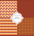 autumn seamless patterns autumn seamless vector image