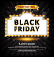 black friday retro frame design template banner vector image