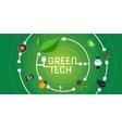 green tech eco environment friendly technology vector image