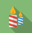 Icon of Christmas Candles Flat style vector image