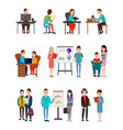 people lern new information set vector image