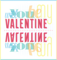 Will You Be My Valentine Typography Card vector image vector image