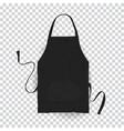realistic black kitchen apron vector image