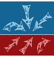 Mosaic doodle arrows vector image