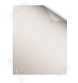 Blank paper sheet vector image