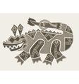 authentic original decorative drawing of crocodile vector image