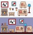 Home furniture Interior design vector image