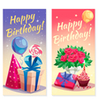 Birthday Party Vertical Banners vector image