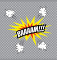 comic speech bubble bam vector image
