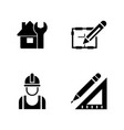 foreman equipment simple related icons vector image