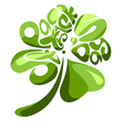 Four Leaves Shamrock vector image