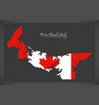 prince edward island canada map vector image