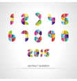 Set of Colorful Number vector image