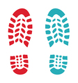 Shoes print vector image