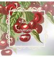 Enjoy Summer Cherry fruits Card vector image