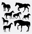 horse animal gesture silhouette vector image
