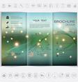 Tri-Fold Brochure mock up design Smooth unfocused vector image