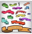 Set of Multicolored Ribbons Banners for vector image