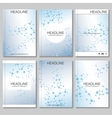 Science background Modern templates vector image