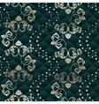 Green seamless Rococo floral vector image vector image