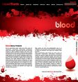 blood splatter vector image vector image