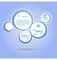 Abstract web design blue bubble vector image
