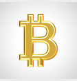 golden bitcoin sign symbol vector image