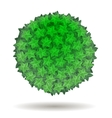 Green Leaves Circle Isolated vector image