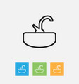 of cleanup symbol on tap vector image