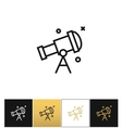 Telescope or astronomy sky looking icon vector image