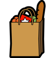 Bag of shopping vector image