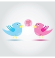Birds love each other A vector image vector image