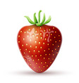 Red strawberry icon vector image