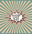 top ten banner vector image vector image