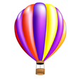 hot air balloon colorful vector image vector image