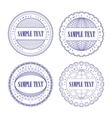 A set of vector guilloche seal vector image